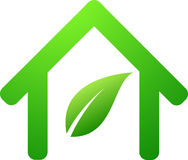 Nice green house symbol Royalty Free Stock Image