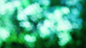 Nice green nature foliage star shaped bokeh stock video footage