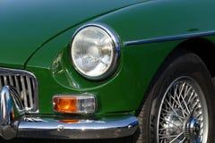 Oldtimer car. Nice green oldtimer car mg Royalty Free Stock Image