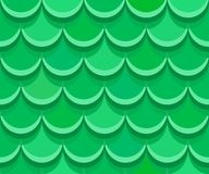 Nice green rooftop clay tiles. Seamless vector pattern Royalty Free Stock Photography