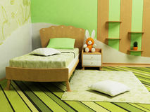 A nice green room for children Stock Images