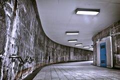 HDR Underground Grunge metro corridor Stock Photography