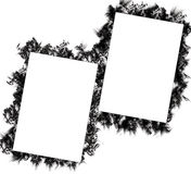 Nice grunge frames. Isolated on white background royalty free illustration