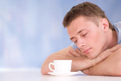Nice guy with cup Stock Photo