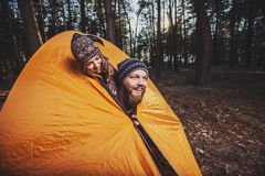 Nice guy and a girl together outdoors Royalty Free Stock Photography