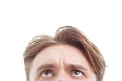 Nice guy keeping his glance up Stock Images