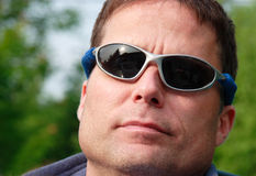Nice guy with sunglasses Royalty Free Stock Images