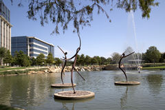 Nice Hall Park in stad Frisco Texas stock foto