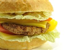 nice hamburger isolated Royalty Free Stock Image