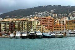 Nice - hamn och port Fotografering för Bildbyråer