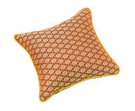 Nice handmade brown pillow isolated royalty free stock images