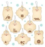 Nice Handmade Tag Designs for Needleowrks Stock Images