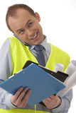 Nice and handsome engineer Royalty Free Stock Image