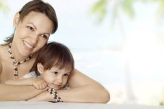 Nice happy mother and son Stock Image