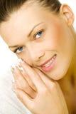 Nice happy woman royalty free stock photos