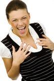 Nice happy woman stock image