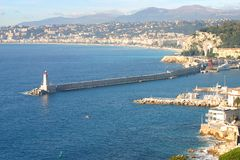Nice harbor, France Stock Photography