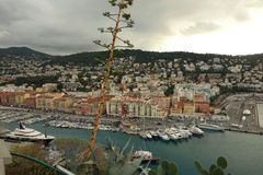 Nice harbor in France Royalty Free Stock Image