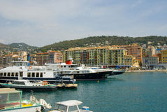 Nice harbour stock photography