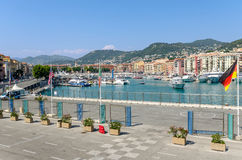 Nice Harbour in France Stock Photography