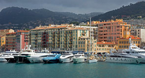 Nice - harbour and port Stock Photography