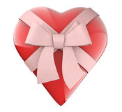 A nice heart with ribbon and  bow gift Stock Photos