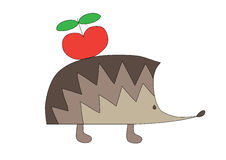 Nice hedgehog Stock Images