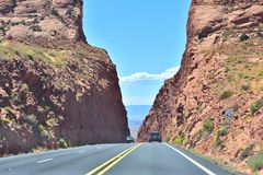 Nice highway in arizona. Arizona is a southwestern U.S. state. is best know the Grand Canyon, Lake Powell, Horseshoe Bend, Flagstaff, Page, National Park Royalty Free Stock Image