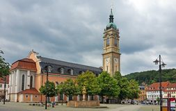 Nice Historical centre of the German city Eisenach Stock Photo