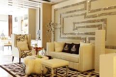 Nice home. A modern white nice house Vector Illustration
