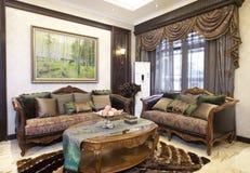 Nice home. A modern white nice house Royalty Free Stock Photo