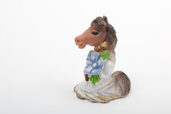 Nice horse. Statuette.  on white Royalty Free Stock Image
