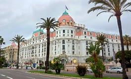Nice - Hotel Negresco royalty-vrije stock afbeelding