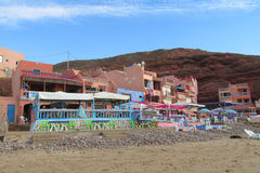 Nice hotel and restaurant on the beach Royalty Free Stock Images