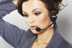 Nice hotline operator Stock Images