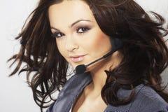 Nice hotline operator Stock Image