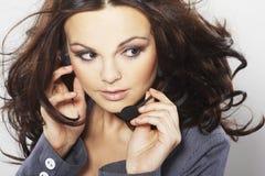 Nice hotline operator royalty free stock image