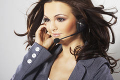 Nice hotline operator Stock Photography