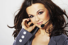 Nice hotline operator Stock Photo