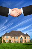 Nice house. A brand new house for sale Royalty Free Stock Photography