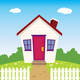 Nice House. Nice small house with green front yard Stock Images