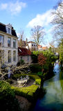 Nice house along the canal Royalty Free Stock Photography