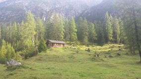 Nice House in the alps. In zams Royalty Free Stock Photos