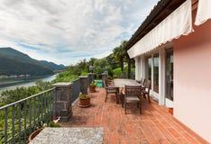 Nice house, balcony Royalty Free Stock Image