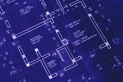 Nice house blueprint Royalty Free Stock Photography