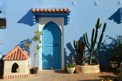 Nice house facade. In Chefchaouen, Morocco Royalty Free Stock Photos