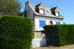 Nice house in french Brittany. Typical stone house in french Brittany Stock Images