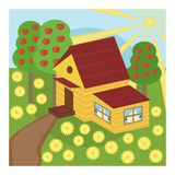 Nice house and garden Royalty Free Stock Image