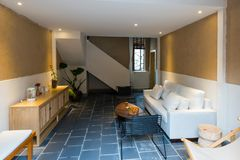Nice house interior. House interior with nice decoration stock images