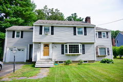 A house in suburban of Boston. A nice house in the suburban of Boston city Stock Image